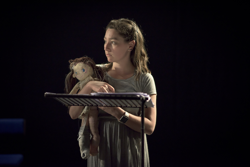 Ob Gob performance at the Peacock Theatre, Dublin. Cara Christie as Caoimhe.
